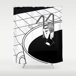 Morning Swim Shower Curtain