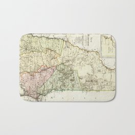 Vintage Map of New Hampshire (1796) Bath Mat