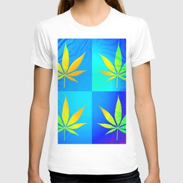 GreenRush - PopLeaf Blue T-shirt