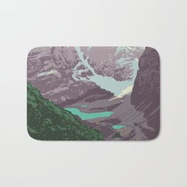 Yoho National Park Poster Bath Mat