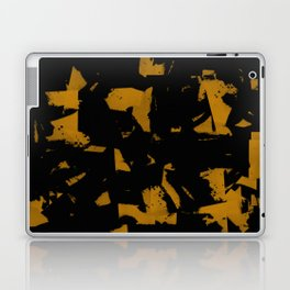 Looking For Gold - Abstract gold and black painting Laptop & iPad Skin