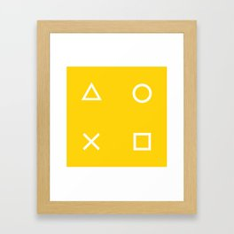 Yellow Gamer Pattern Framed Art Print