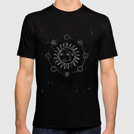 Moon, sun and elements T-shirt