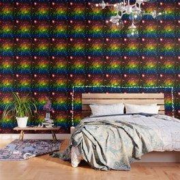 Rainbow Sparkle Galaxy Stars Wallpaper