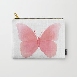 Watermelon pink butterfly Carry-All Pouch