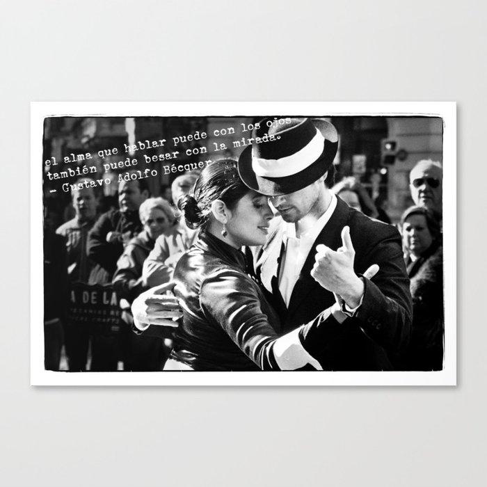 Tango Couple - Becquer Canvas Print