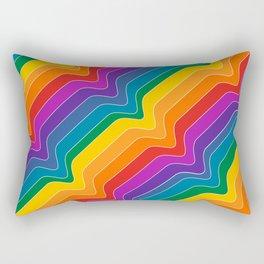 Rainbow Wave Rectangular Pillow