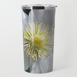 White Clematis Travel Mug