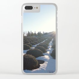 Lavender at Lake Kawagoe Clear iPhone Case