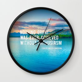 The Power Of Enthusiasm Wall Clock