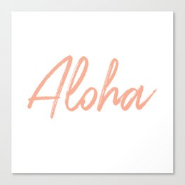 Aloha in Pink Canvas Print