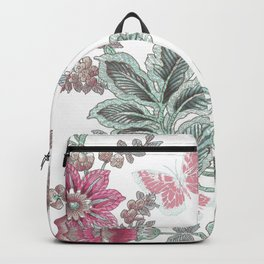 butterfly field red Backpack