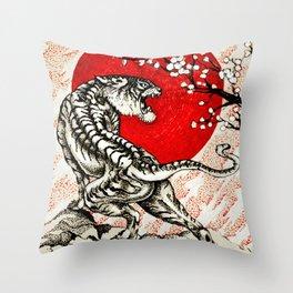Japan Tiger Throw Pillow