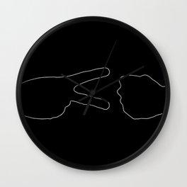 diplomacy (inverted) Wall Clock