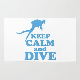 Keep calm and dive Rug