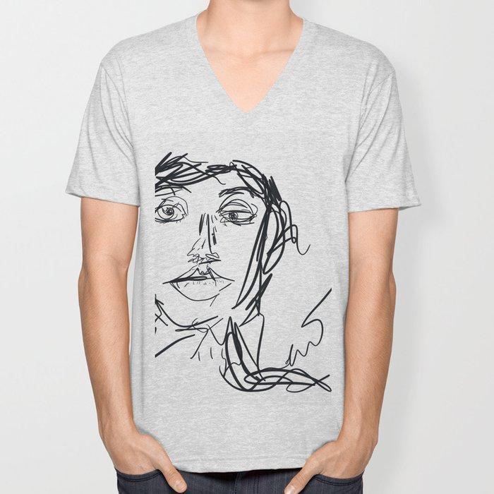 Portrait of a Woman Unisex V-Neck
