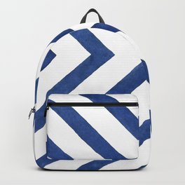 Geometrical modern navy blue watercolor abstract pattern Backpack