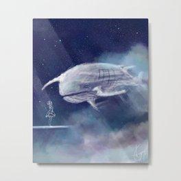 White Whale Metal Print