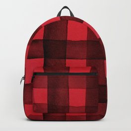 Buffalo Plaid Watercolor in Red Backpack