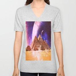 Galaxy Pyramids Unisex V-Neck