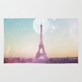 I LOVE PINK PARIS EIFFEL TOWER - Full Moon Universe Rug