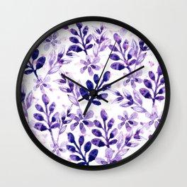 Watercolor Floral VIV Wall Clock