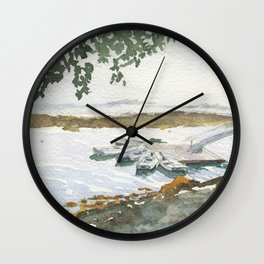 The Boats Are Singing Wall Clock