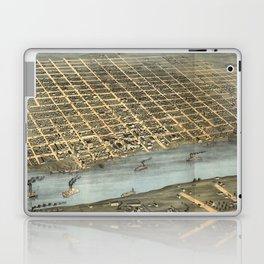Vintage Pictorial Map of Little Rock AR (1871) Laptop & iPad Skin