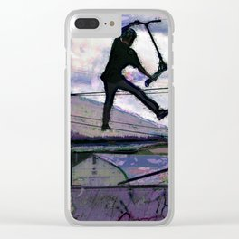 Deck Grab Champion - Stunt Scooter Art Clear iPhone Case