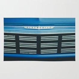 Blue Oldsmobile Rug