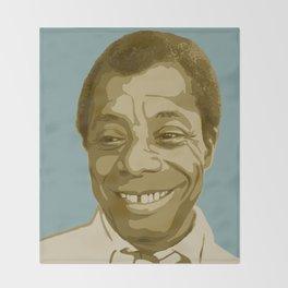 James Baldwin Throw Blanket