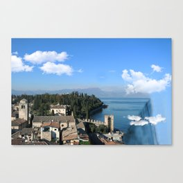 WATERFALL IN GARDA LAKE • ITALY • Landscape Photography Canvas Print