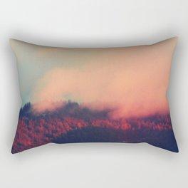 Red Clouds Rectangular Pillow