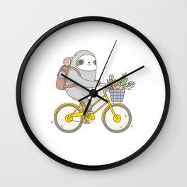 Biking Sloth Wall Clock