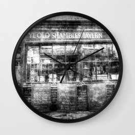 Ye Old Shambles Tavern York Vintage Wall Clock