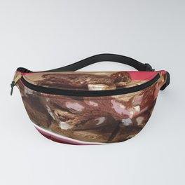 Cherry Chocolate Marshmallow Fudge On A Plate Fanny Pack