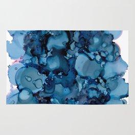Indigo Abstract Painting | No. 8 Rug