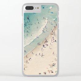 beach love V Clear iPhone Case