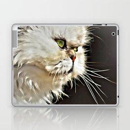 White Persian Cat Laptop & iPad Skin