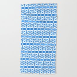 Dividers 02 in Blue over White Beach Towel