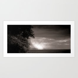 Rainy Plain Art Print
