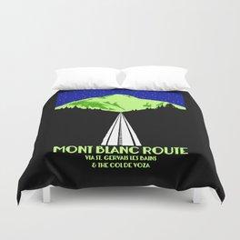 Mont Blanc Alps railway route Duvet Cover