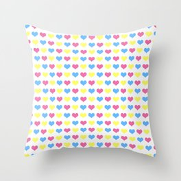 '80s hearts (larger) - Back to Basics Throw Pillow