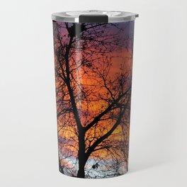 Winter Tree Sunset Travel Mug