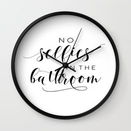 Bathroom Wall Decor Printable, Bathroom Rules Sign, No Selfies in the Bathroom, Prints