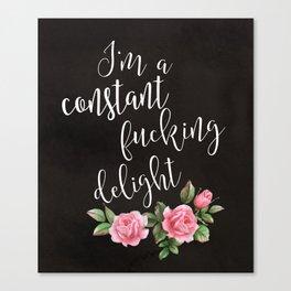 fucking delight Canvas Print