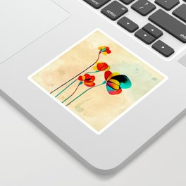 Exotic Watercolor Flower Sticker