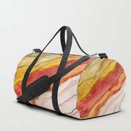 AGATE Inspired Watercolor Abstract 03 Duffle Bag