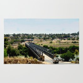 Tailem Bend Bridge over the Murray River Rug