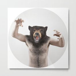 Therianthrope - Angry Bear Metal Print